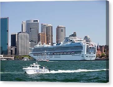 Diamond Princess Cruise Ship Canvas Print