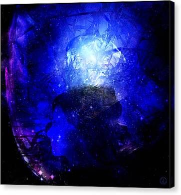 Diamond Queen Of The Night Canvas Print by Gun Legler