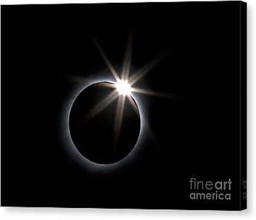 Totality Canvas Print - Diamond Ring by Babak Tafreshi