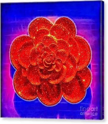 Diamond Rose Canvas Print by Kasia Bitner