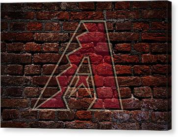 Centerfield Canvas Print - Diamondbacks Baseball Graffiti On Brick  by Movie Poster Prints