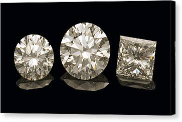 Diamonds Canvas Print by Charles D. Winters