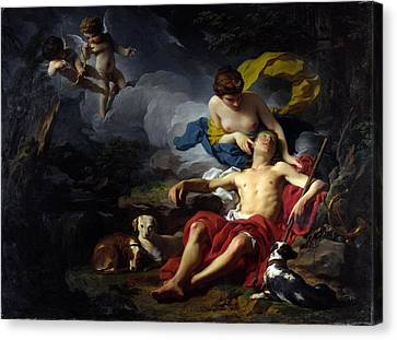 Diana And Endymion Canvas Print by Pierre Subleyras