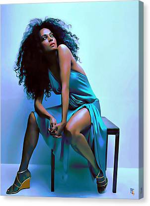 Diana Ross Canvas Print - Diana Ross by  Fli Art