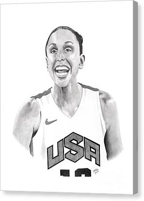 Diana Taurasi Usa Canvas Print by Devin Millington