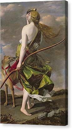 Diana The Hunter, C.1624-25 Oil On Canvas Canvas Print