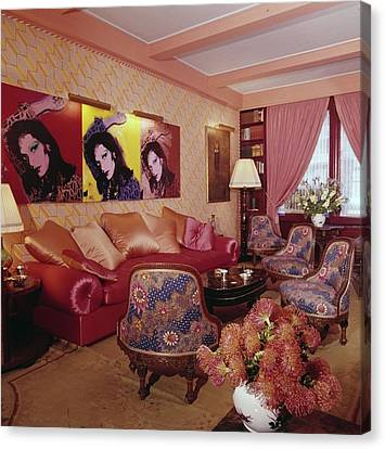Diane Von Furstenberg's New York Living Room Canvas Print by Horst P. Horst