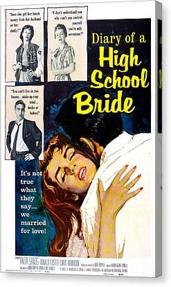 Biro Art Canvas Print - Diary Of A High School Bride, Us by Everett
