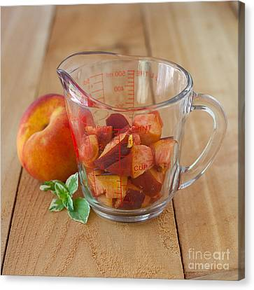 Diced Peaches Canvas Print by Kay Pickens