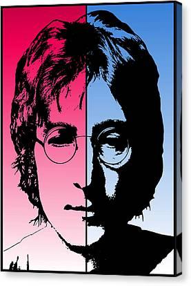 Four Strawberries Canvas Print - Dichotomous Lennon by Daniel Hagerman