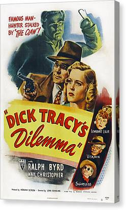 Dick Tracys Dilemma, Upper Center Canvas Print
