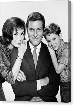 Publicity Shot Canvas Print - Dick Van Dyke And Mary Tyler Moore 1963 by Mountain Dreams