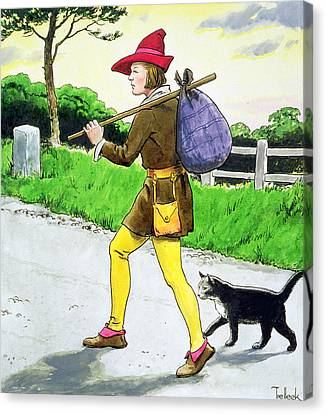 Dick Whittington And His Cat Canvas Print by Trelleek