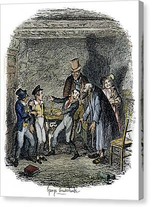Dickens Oliver Twist, 1838 Canvas Print by Granger