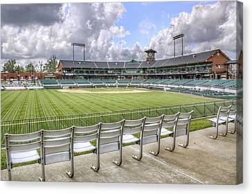 Canvas Print featuring the photograph Dickey-stephens Park by Jason Politte