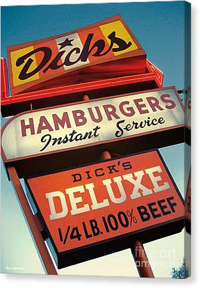 Dick's Hamburgers Canvas Print by Jim Zahniser