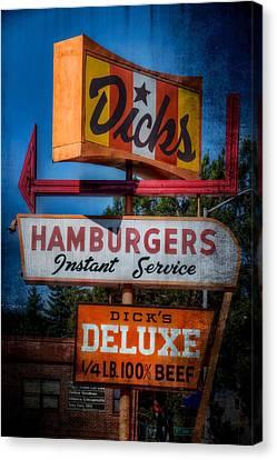 Dick's Hamburgers Canvas Print by Spencer McDonald