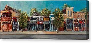 Fayetteville Canvas Print - Dickson Street by Cari Humphry