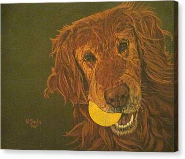Did Somebody Say Ball? Canvas Print by Wendy Shoults