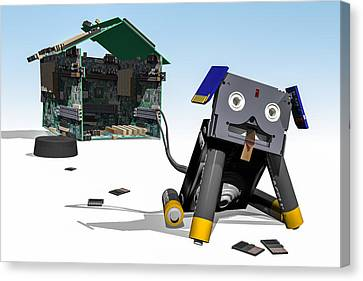 Didgie The Digital Dog Canvas Print by Randy Turnbow