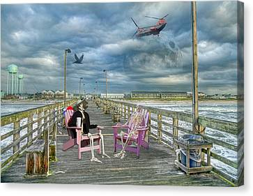 Die Hard Fishermen Canvas Print by Betsy Knapp