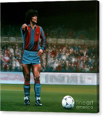Barcelona Canvas Print - Diego Maradona by Paul Meijering
