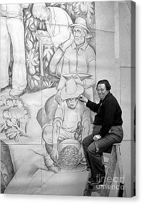 Diego Rivera Muralist 1930 Canvas Print by Martin Konopacki Restoration