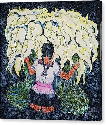 Diego's Calla Canvas Print by Victoria Page