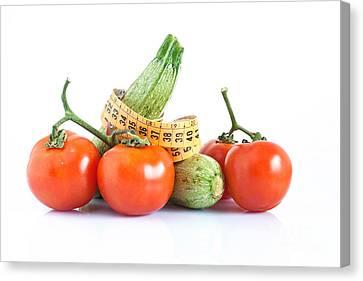 Diet Ingredients Canvas Print by Antonio Scarpi