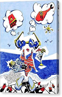 Dieta - Vacaciones Humor Y Ocio Canvas Print by Arte Venezia