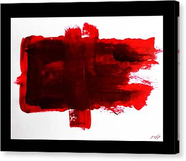 Different Layers Of Drying Blood Canvas Print