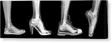 Different Shoes X-ray Canvas Print