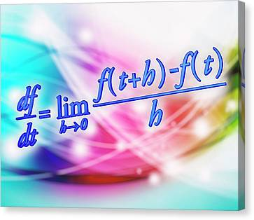 Differential Calculus Equation Canvas Print by Alfred Pasieka