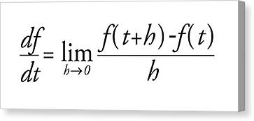 Differential Calculus Equation Canvas Print by Science Photo Library
