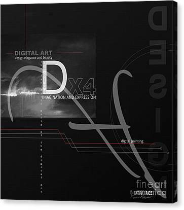 Digital Age X4 Canvas Print by Franziskus Pfleghart