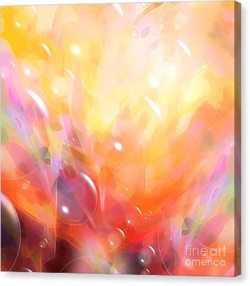 Digital Bubbles Canvas Print by Lutz Baar