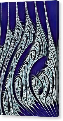 Digital Carvings Canvas Print by Anastasiya Malakhova