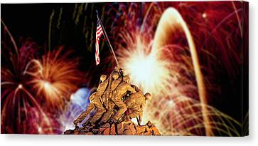 Digital Composite, Fireworks Highlight Canvas Print