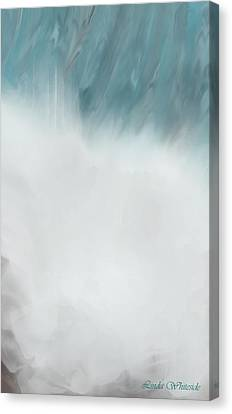 Digital Falls Canvas Print by Linda Whiteside