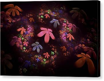 Digital Fractalpsychedelic Flower Image Modern Fractal Art  Canvas Print by Keith Webber Jr