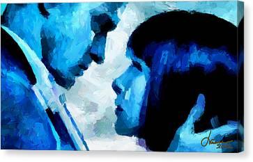 Digital Love Tnm Canvas Print by Vincent DiNovici