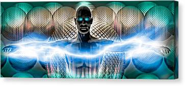 Human Body Part Canvas Print - Digital Man by Panoramic Images
