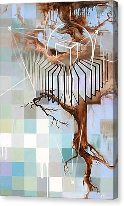 Canvas Print featuring the painting Digital Organic by Dave Platford