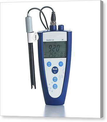 Digital Ph Meter Canvas Print by Science Photo Library