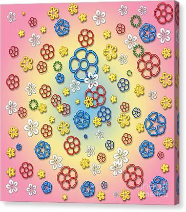 Digital Springtime Canvas Print by Gaspar Avila