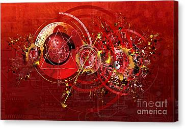 Digital Time Shift Canvas Print by Franziskus Pfleghart