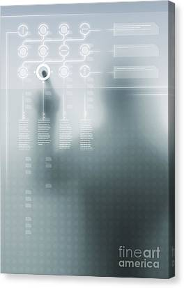 Digital User Interface Canvas Print by Carlos Caetano