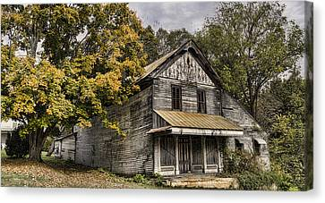 Haunted House Canvas Print - Dilapidated by Heather Applegate