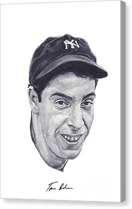 Canvas Print featuring the painting Dimaggio by Tamir Barkan