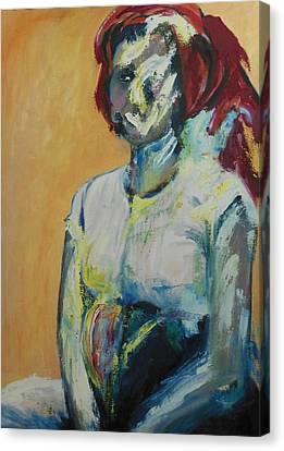 Dinah After The Rape Canvas Print by Esther Newman-Cohen